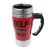 Onpiece Self Stirring Milk Mug, Automatic Mixing,Stainless Steel