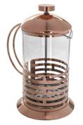 Rose Gold 800ml Tempered Borosilicate Glass French Press Coffee Tea Maker Set