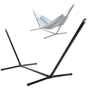 [US Stock]Portable Stainless Steel Hammock Stand/Space Savings Outdoor Patio Hammock Stand for Spreader Bar Hammock,200kg Capacity