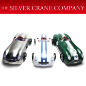 I am discussed the rights and wrongs by British silver crane company can racing car Doshisha white, green, a silver gift, a present, a present!