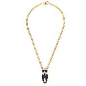 Bijoux De Famille Women's Karl Chain Pendant Necklace of Length 40cm