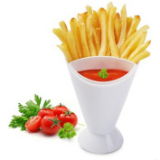 Gloryhonor Snack Cone Stand + Remove Dip Holder for Fries Chips Finger Food Home Restaurant