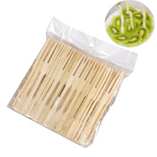 80 Pcs/1 bag Disposable Bamboo Party Forks Buffet Mini Fruit Desserts Food Forks