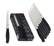 Salvinelli Deluxe Serrated Steak Knife, ABS/Stainless Steel, Multi-Colour, 11.8 x 30 x 30 cm