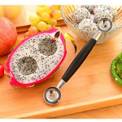 Kicode Double-End Kitchen Tool Decoration Watermelon Fruit Carving Knife Dig the Ball Spoon Stainless Steel
