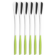 Bugatti Glamour Set Cocktail Spoons, Stainless Steel, Apple Green