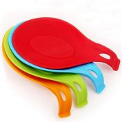 Topker Multipurpose Silicone Spoon Rest Pad Food Grade Silica Gel Spoon Put Mat Device