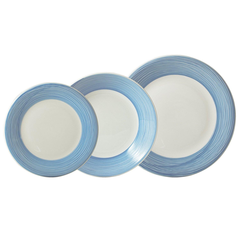 Protenrop Crockery, Porcelain, Blue, 27 x 27 x 27 cm by Protenrop ...