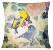 S4Sassy Bird Print Cushion Cover Decorative Multicolour Throw Pillow Case - Choose Size