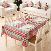 Christmas Cotton Tablecloth Large Festive Accessories and Table Decorations, Variety Sizes Available , 100*140cm