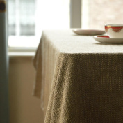 Monochrome Thickening Cotton Tablecloth for Dining Room Home Decor, 3 colours available , khaki , 136*220cm