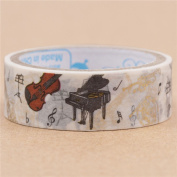 White piano violin instrument paper tape gold metallic embellishment from Japan