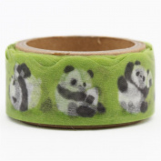Green die-cut cute panda deco tape sticky tape by Mind Wave