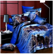 3D Bedding Set 4 Pcs/Set Wolf Pattern King And Queen Size