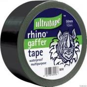 2xRhino 50mm 50mtr Multipurpose Gaffer Tape Black