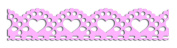 Toga MT137 Lace Hearts Sizes Washi Tape Pink 1.5 x 300 x 0.1 cm