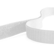 5m Hook and Loop Tape, White, 20mm Wide Self Adhesive, Sticky backed