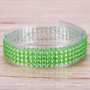 RUNGAO DIY Colourful Adhesive Tape Self-Adhesive Rhinestones Stick Scrapbooking Craft Sticker Tape Nail Decor Green