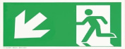 smartboxpro 245186510 Sign – Exit To The Left/Bottom 29.7 x 14.8 cm green/white