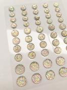 CB064SW AB CLEAR - 50 Self Adhesive Crystal Diamante Bubble Gems