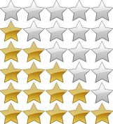 SG Education ED BJ28673 CE Gold And Silver Glitter Star