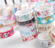 Kolylong 10pcs DIY Cute Mixed Colours Tape Hobby Decorative Crafting Tape