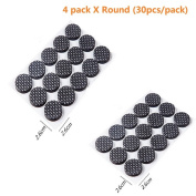 DAYNECETY 4 Pack Non slip Rubber Furniture Felt Pad Adhesive Floor Protectors Chair Sofa Feet Pads 120 Dots