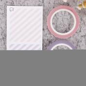 ZHUOTOP Fashion Self Adhesive Colourful 3mm Washi Masking Tape DIY Craft Tape Sticker Decor 2Pcak,C1