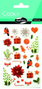 "Maildor Cooky ""Christmas Flowers"" Stickers, Multi-Colour"