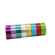 YUYIKES 8 Rolls Skinny Decorative Glitter Washi Tape ,Perfect for Scrapbooking, DIY Crafts and Gift Wrapping