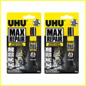 UHU 45820 Max Repair Extreme Glue – 20g Tube - 2 Items