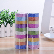 JETTINGBUY 10X Glitter Washi Paper Adhesive Tape DIY Craft Sticker