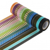 UOOOM 12 Rolls Decorative Washi Tape Masking Tape Adhesive Scrapbooking DIY Craft Gift