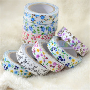 Colourful Adhesive Floral Fabric Flower Tape Washi Masking Tape Decorative DIY Tape Stickers HOT Sell