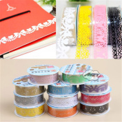 Lace Self Adhesive PVC Washi Tape Sticky Paper Decorative Sticker For DIY Crafting, Card Making 1.8cm/100 cm