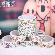 Flower Printing Fabric Decorative Self Adhesive Washi Tape Sticky Paper Sticker 1.5cm/400cm For Crafting, Scrapbooking, Card Making