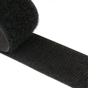 TRIXES 1 Metre 50mm Wide Self-Adhesive Sticky Backed Black Hook and Loop Fastener Strips