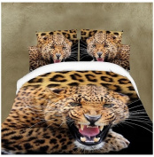 3D Bedding Set 4 Pcs/Set Leopard Pattern King And Queen Size