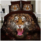 3D Bedding Set 4 Pcs/Set Black Tiger Pattern King And Queen Size