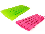 Proops 20 x Plastic PVA Glue Spreaders, 10x Green & 10x Pink. Craft, Adhesive, Paste, Spatula (S7628) Free UK Postage.