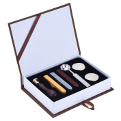 Outus Vintage Wax Seal Stamp Sealing Wax Sticks Melting Spoons Candles Set with Gift Box