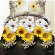 3D Bedding Set 4 Pcs/Set Floral Pattern King And Queen Size