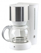 Nordic Home Culture KAF/Good Morning Coffee Maker, 1.5 Litre, Stainless Steel, 915 1080 W, Silver, Plastic, white, 25 x 35 x 22 cm