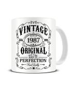 Vintage - Made in 1987 - Aged To Perfection - Ideal Birthday / Christmas Present - Ceramic Coffee Mug - Tea Mug - Great Gift Idea Funky NE Ltd®