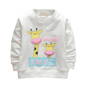 Baby Girl Top Clothes Long Sleeve Pullover T-shirt Sweater Giraffe Printed Outfit for Newborn Toddler Infant By Shiningup