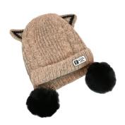 Morwind Cute Baby Kids Girl Boy Cartoon Big Ball Warm Winter Knitted Cap Hat Beanie