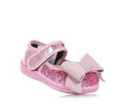 MONNALISA - Pink ballet flat made of shiny leather and glitter, made in Italy, romantic and nice, Child, Girl, Baby
