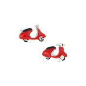 LINK UP Men's Red Enamel Scooter Cufflinks