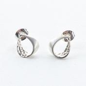 Sterling Silver . Twirls Earrings by Ortak
