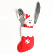 SMILEQ Christmas Tree Ornaments Decoration Dinnerware Cover Xmas Fork Tableware Bag Desk Decor